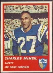 Autographed 1963 Fleer Charles McNeil