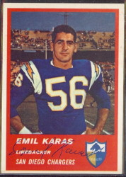 Autographed 1963 Fleer Emil Karas