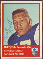 Autographed 1963 Fleer Ernie (Little Samson) Ladd