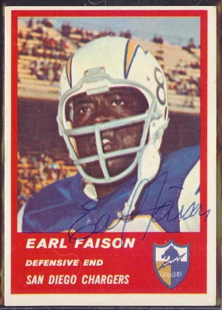 Autographed 1963 Fleer Earl Faison