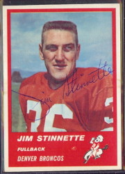 Autographed 1963 Fleer Jim Stinnette