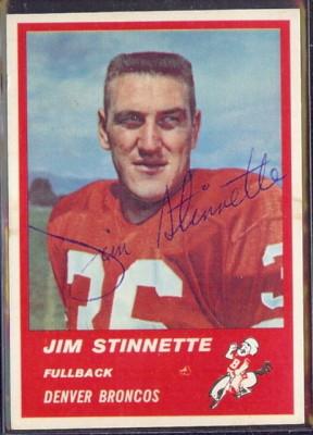 Autographed 1963 Fleer Jim Stinnette