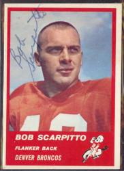 Autographed 1963 Fleer Bob Scarpitto