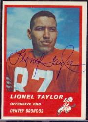 Autographed 1963 Fleer Lionel Taylor