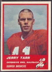 Autographed 1963 Fleer Jerry Tarr