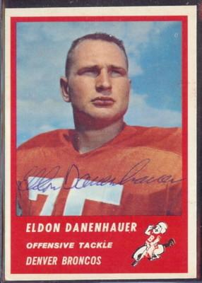 Autographed 1963 Fleer Eldon Danenhauer