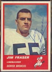 Autographed 1963 Fleer Jim Fraser