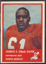 Autographed 1963 Fleer Charles (Chuck) Gavin