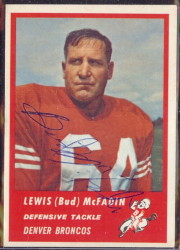Autographed 1963 Fleer Bud McFadin