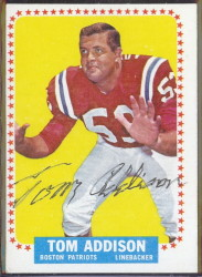 autographed 1964 topps tom addison