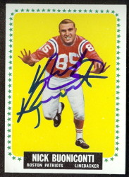 autographed 1964 topps nick bouniconti