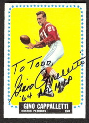 autographed 1964 topps gino cappelletti