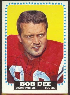 autographed 1964 topps bob dee