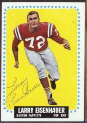 autographed 1964 topps larry eisenhauer