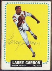 autographed 1964 topps larry garron