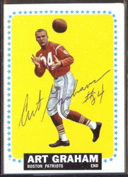 autographed 1964 topps art graham