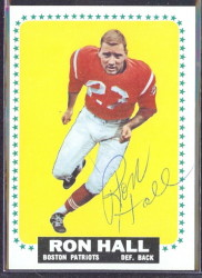autographed 1964 topps ron hall