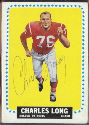 autographed 1964 topps charles long