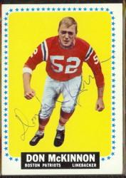 autographed 1964 topps don mckinnon
