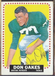 autographed 1964 topps don oakes
