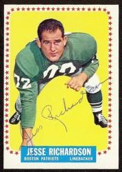 autographed 1964 topps jesse richardson