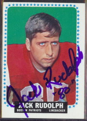 autographed 1964 topps jack rudolph
