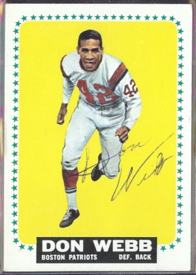 autographed 1964 topps don webb