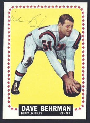 autographed 1964 topps dave behrman