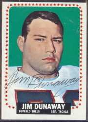 autographed 1964 topps jim dunaway