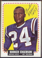 autographed 1964 topps booker edgerson