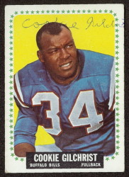 autographed 1964 topps cookie gilchrist