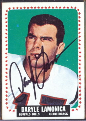autographed 1964 topps daryle lamonica