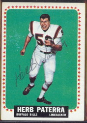 autographed 1964 topps herb paterra