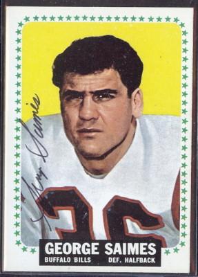 autographed 1964 topps george saimes