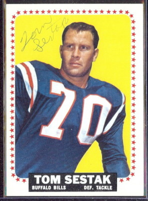 autographed 1964 topps tom sestak