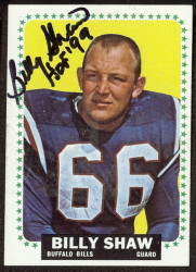 autographed 1964 topps billy shaw