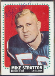 autographed 1964 topps mike stratton