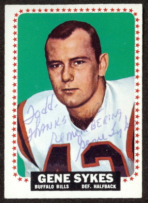 autographed 1964 topps gene sykes