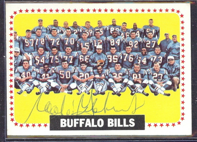 autographed 1964 topps bills team
