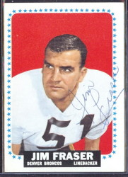 autographed 1964 topps jim fraser