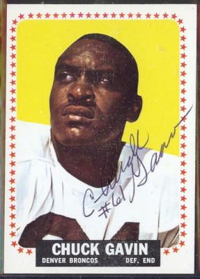 autographed 1964 topps chuck gavin