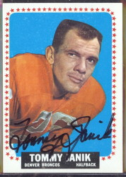 autographed 1964 topps tommy janik