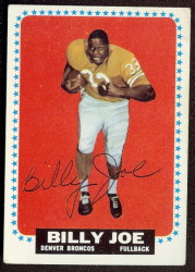 autographed 1964 topps billy joe