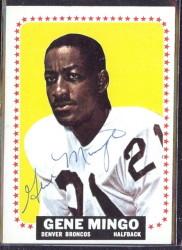 autographed 1964 topps gene mingo