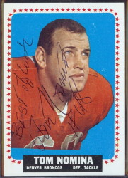 autographed 1964 topps tom nomina