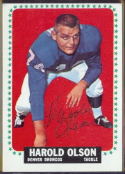 autographed 1964 topps harold olson