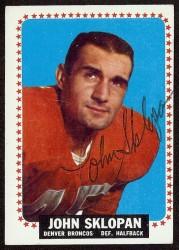 autographed 1964 topps john sklopan