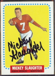 autographed 1964 topps mickey slaughter