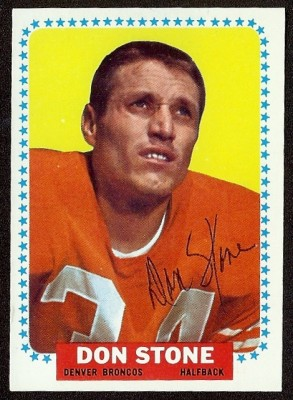 autographed 1964 topps don stone