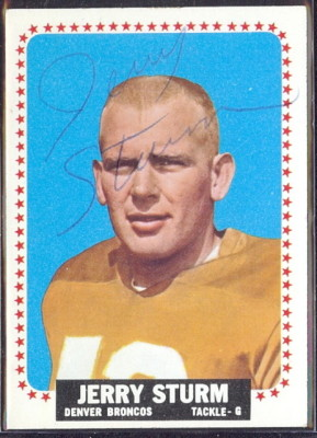 autographed 1964 topps jerry sturm